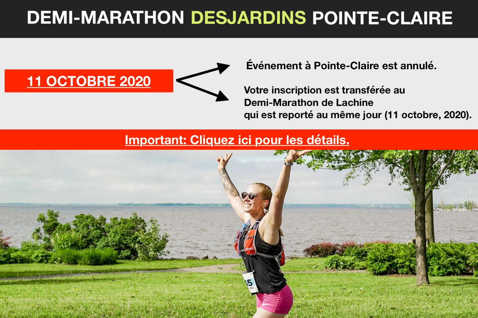 DEMI-MARATHON DE POINTE-CLAIRE 2020 - FR - ANNULE